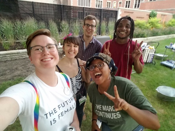 BSD and PSD students mingle at the Big Gay Barbecue, photo by Elizabeth Bain